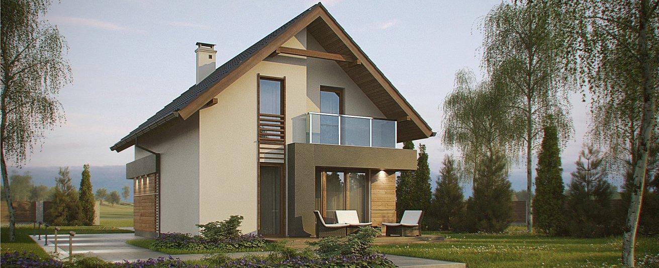 Стильный двухэтажный